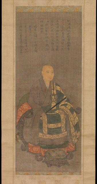 Portrait of Monk Keinan Eibun (1371–1454) at the age of 79