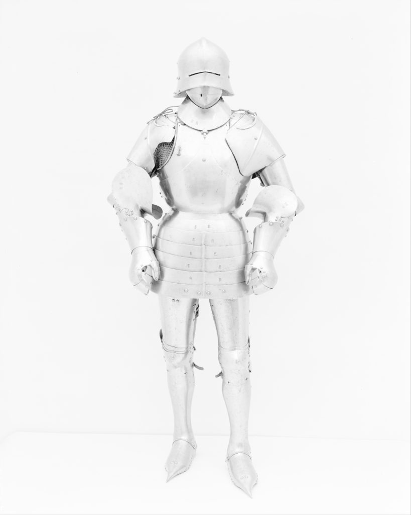 Armor in the style of the 15th century