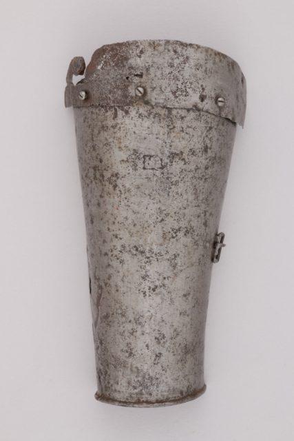 Part of a Left Forearm Defense (Vambrace)