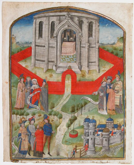 """The Temple in Jerusalem, from the """"Postilla Litteralis (Literal Commentary)"""" of Nicholas of Lyra"""