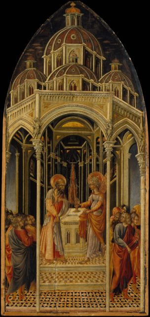 The Annunciation to Zacharias; (verso) The Angel of the Annunciation