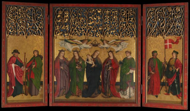 The Burg Weiler Altar Triptych (Altarpiece with the Virgin and Child and Saints)