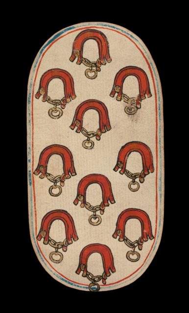 10 of Collars, from The Cloisters Playing Cards