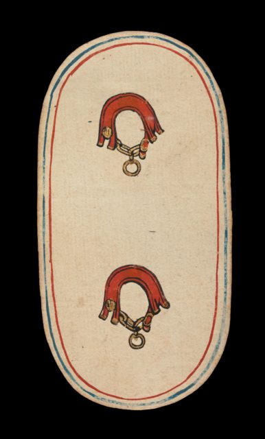 2 of Collars, from The Cloisters Playing Cards