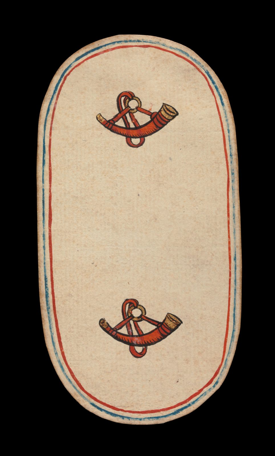 2 of Horns, from The Cloisters Playing Cards