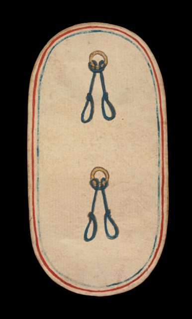 2 of Nooses, from The Cloisters Playing Cards