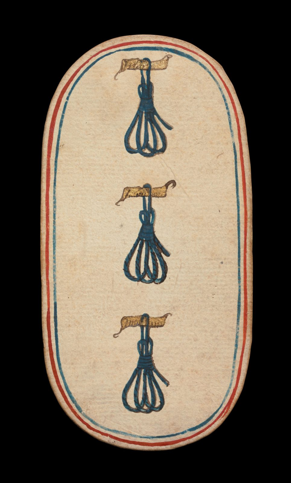 3 of Tethers, from The Cloisters Playing Cards