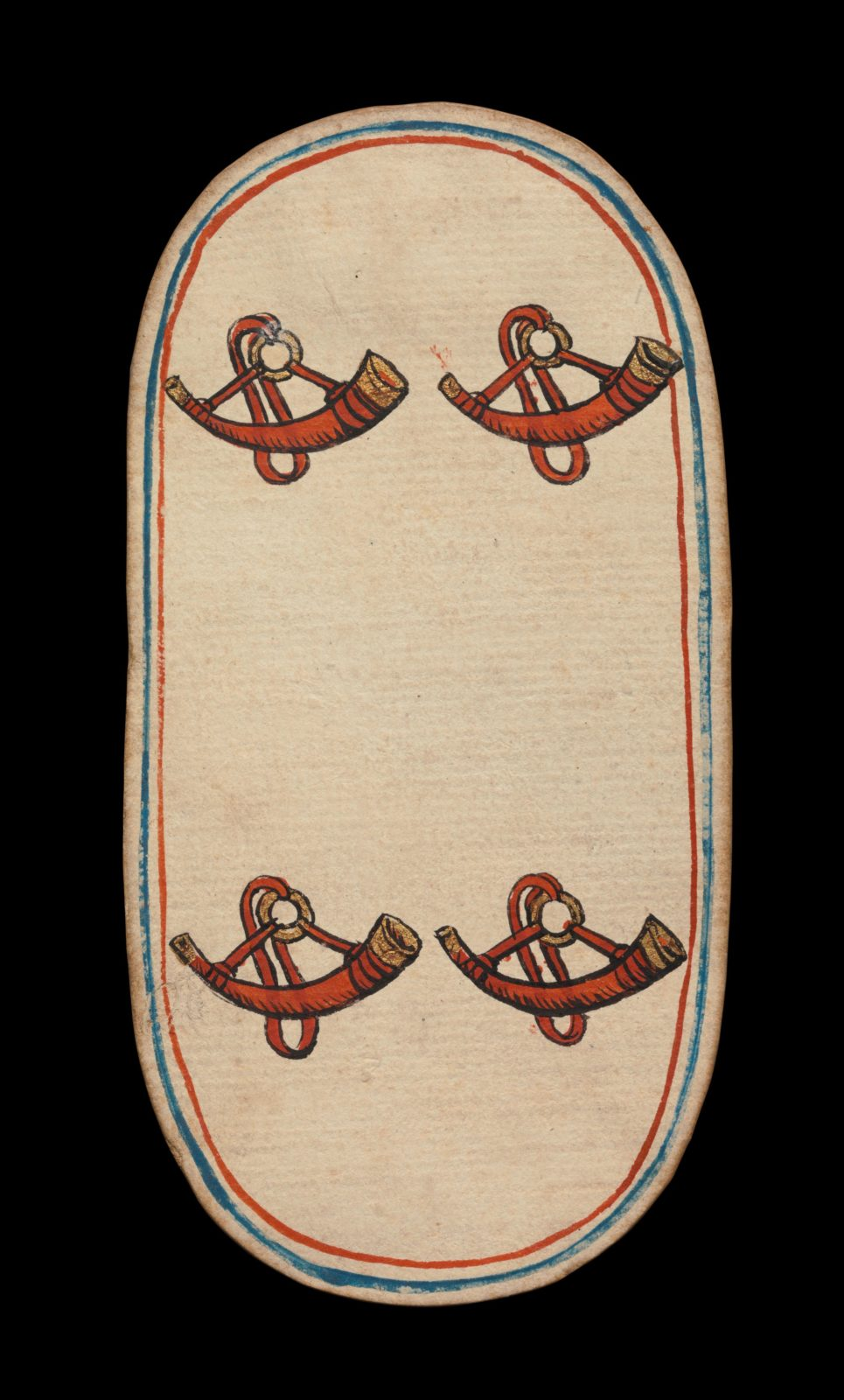 4 of Horns, from The Cloisters Playing Cards