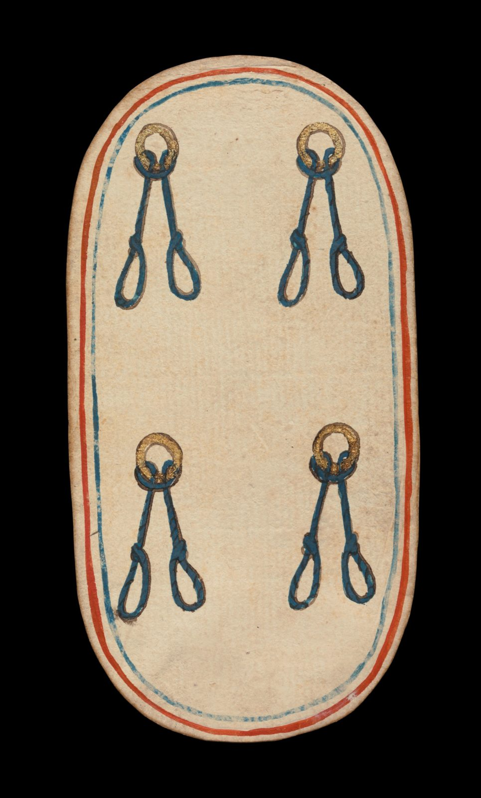 4 of Nooses, from The Cloisters Playing Cards