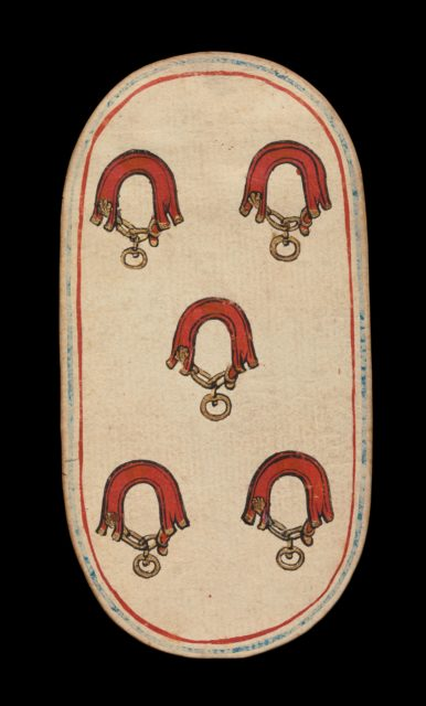 5 of Collars, from The Cloisters Playing Cards