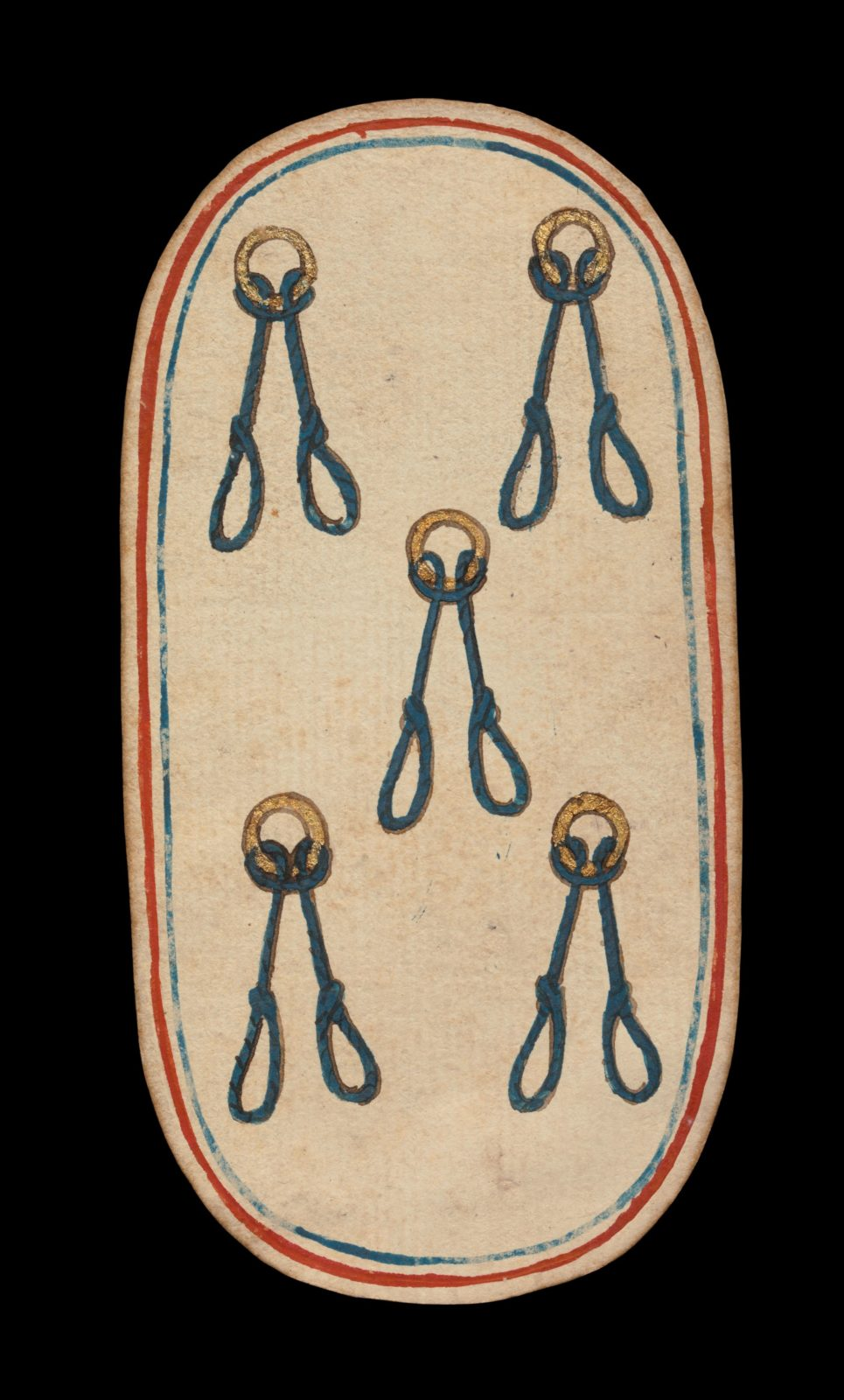 5 of Nooses, from The Cloisters Playing Cards