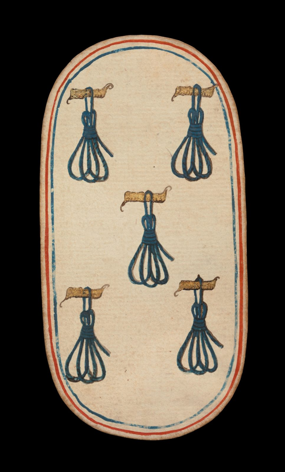 5 of Tethers, from The Cloisters Playing Cards