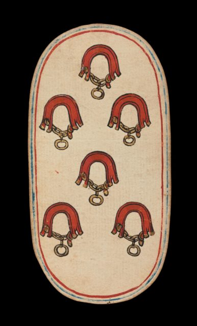 6 of Collars, from The Cloisters Playing Cards