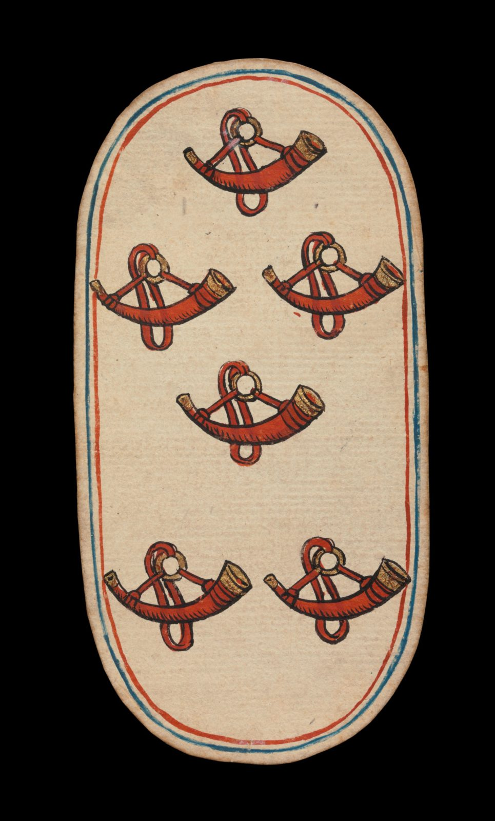 6 of Horns, from The Cloisters Playing Cards