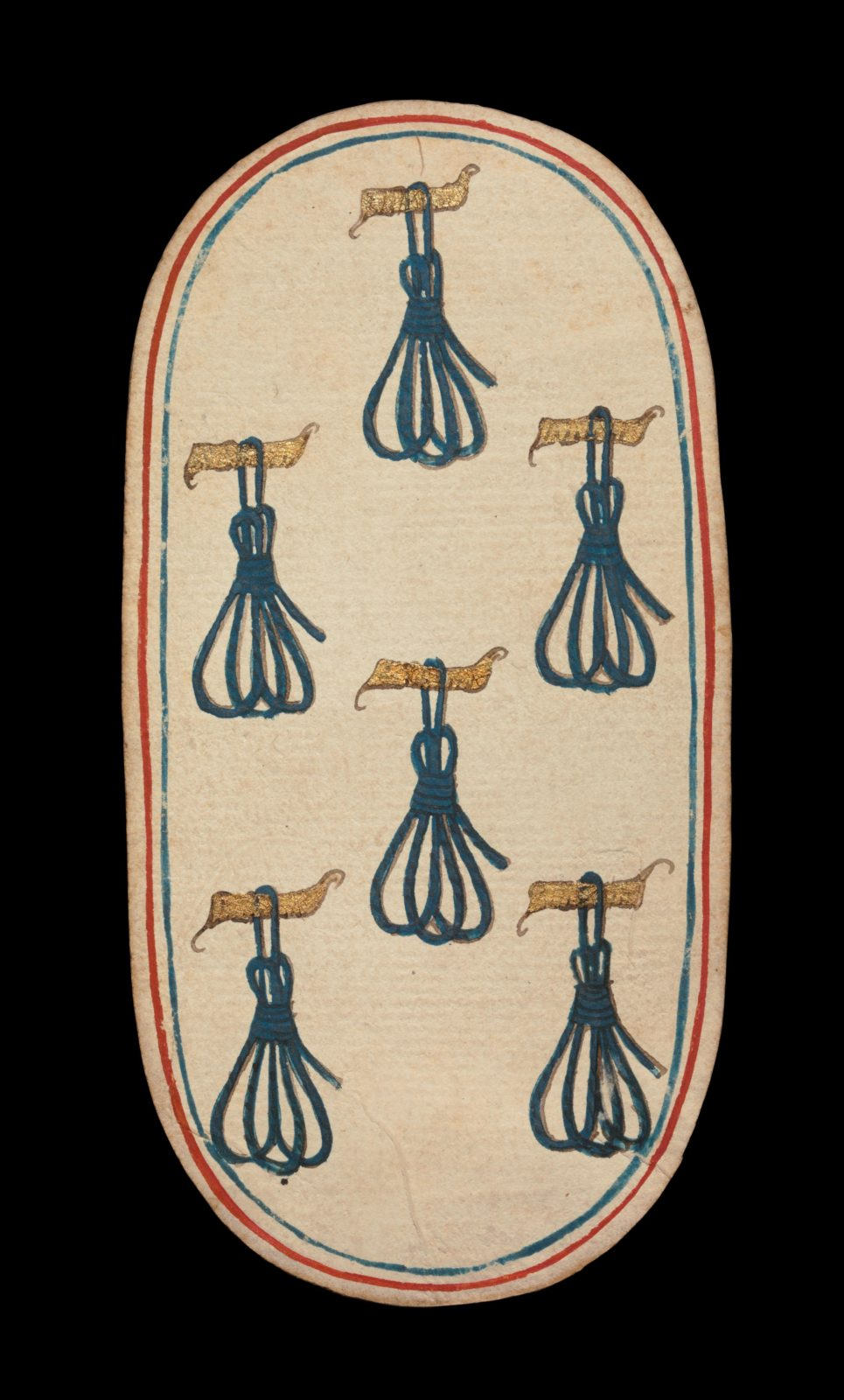 6 of Tethers, from The Cloisters Playing Cards