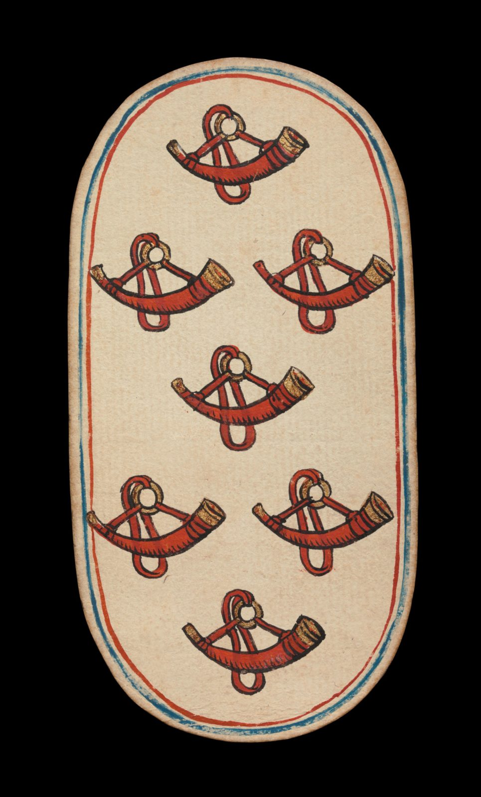 7 of Horns, from The Cloisters Playing Cards