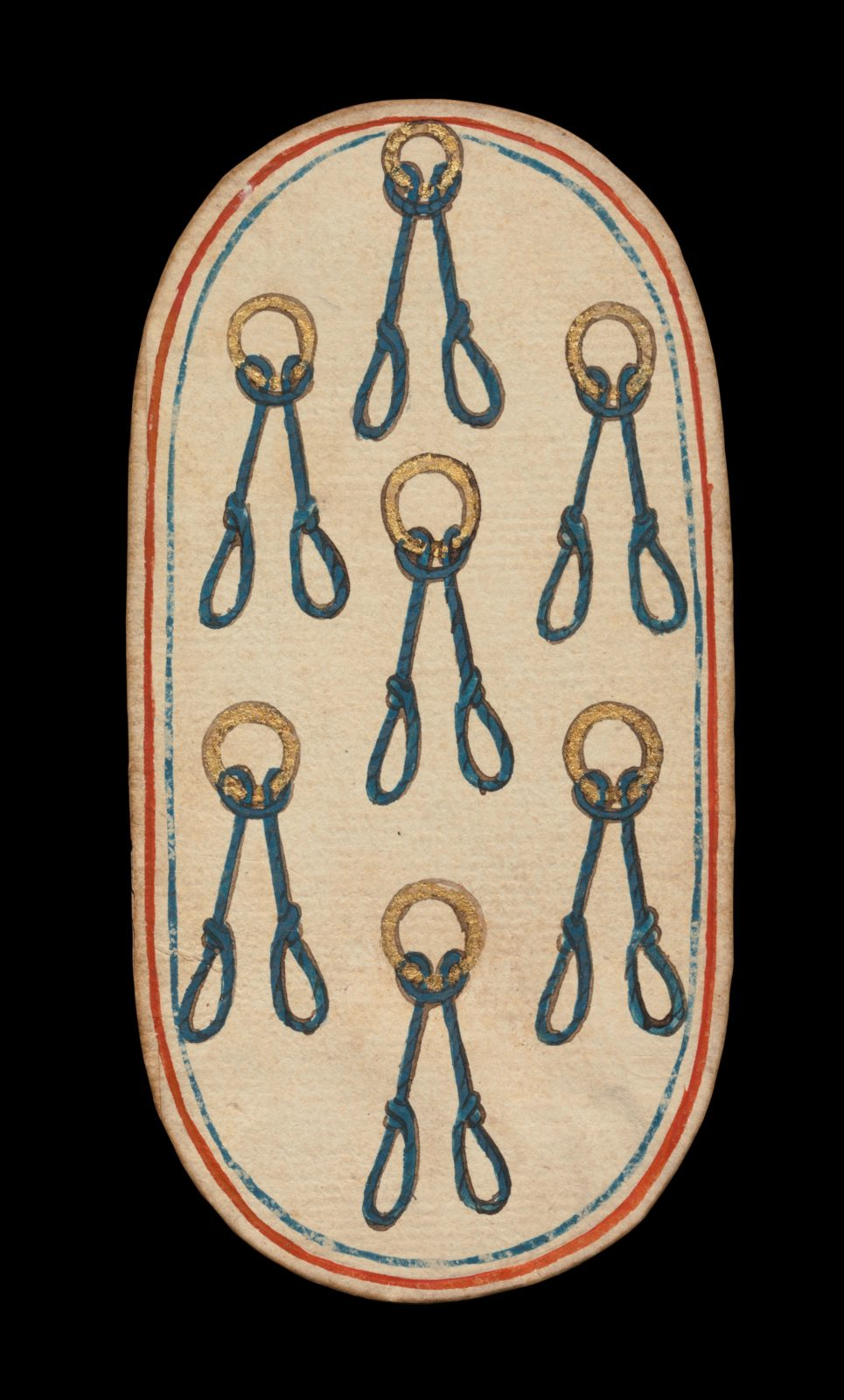 7 of Nooses, from The Cloisters Playing Cards