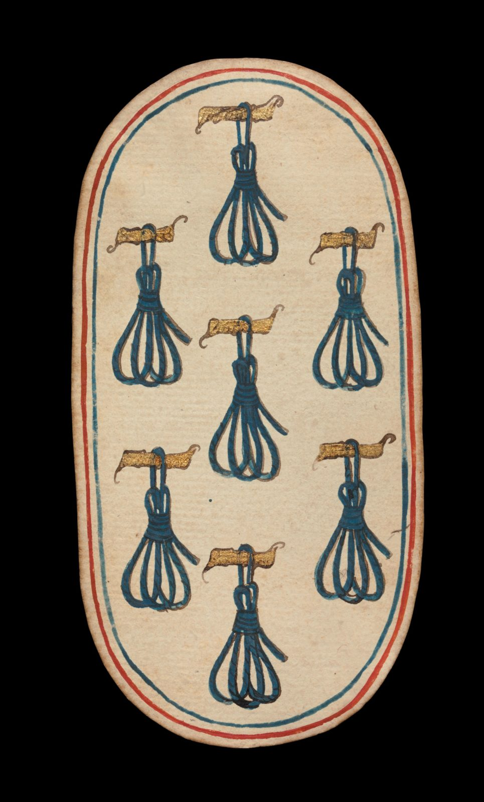 7 of Tethers, from The Cloisters Playing Cards
