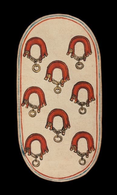 8 of Collars, from The Cloisters Playing Cards