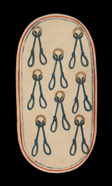 8 of Nooses, from The Cloisters Playing Cards