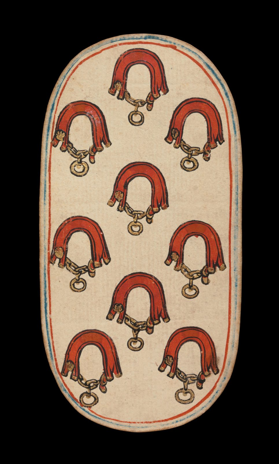 9 of Collars, from The Cloisters Playing Cards