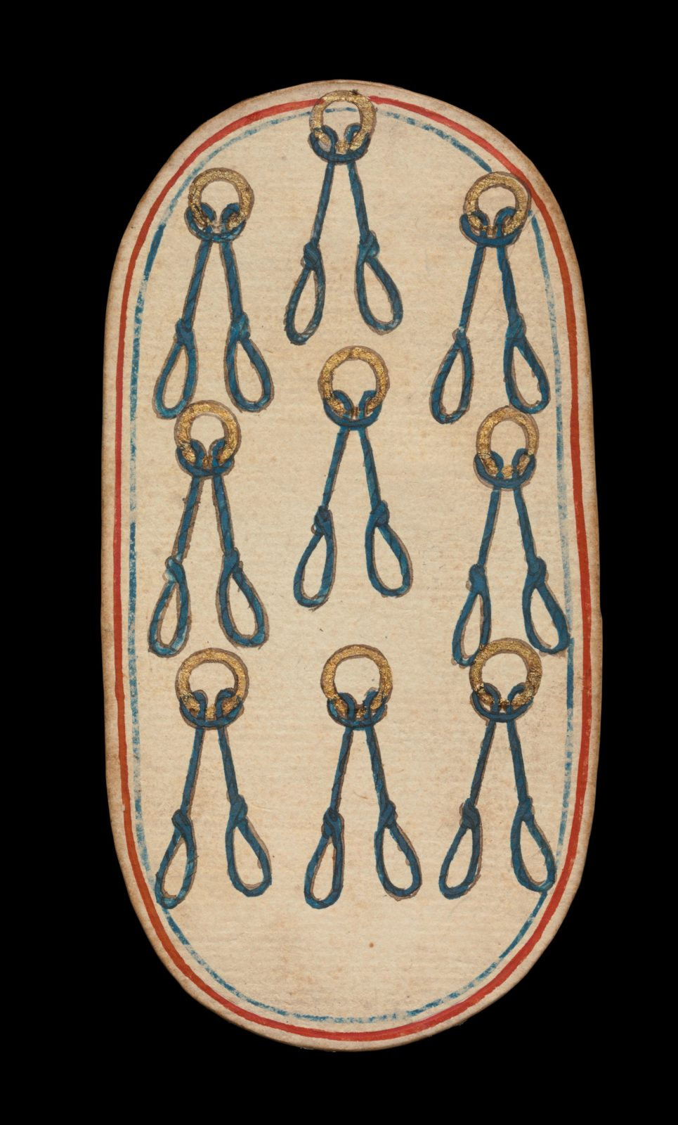 9 of Nooses, from The Cloisters Playing Cards