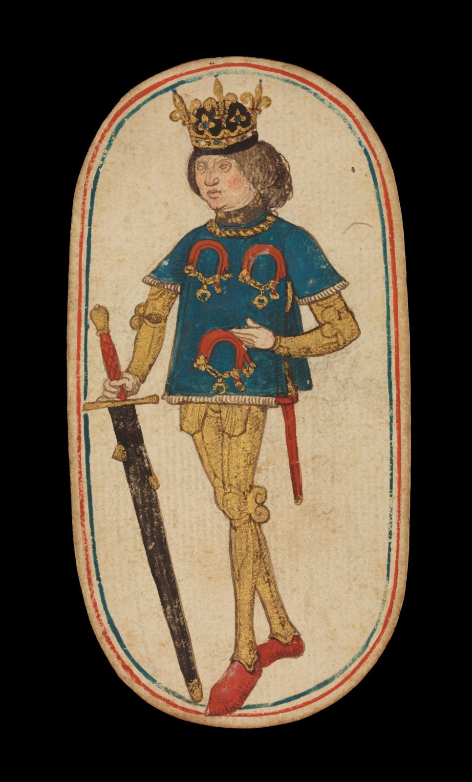 King of Collars, from The Cloisters Playing Cards