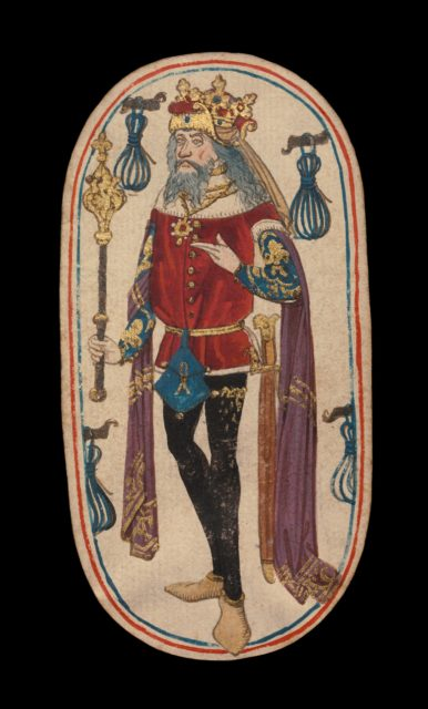 King of Tethers, from The Cloisters Playing Cards