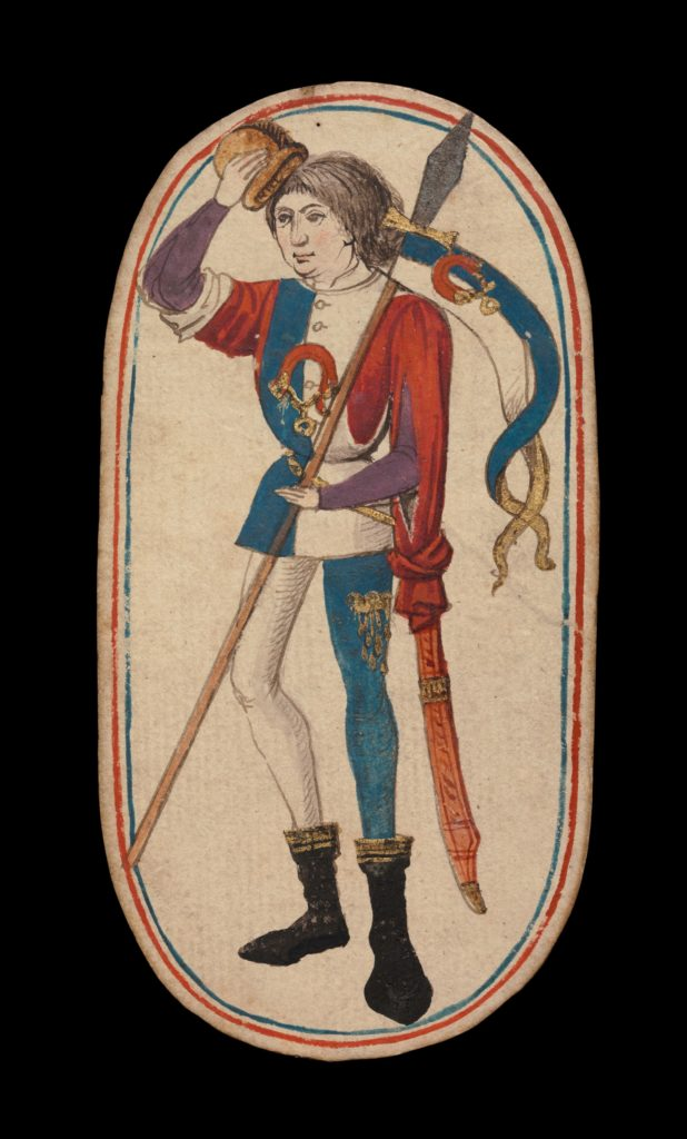 Knave of Collars, from The Cloisters Playing Cards