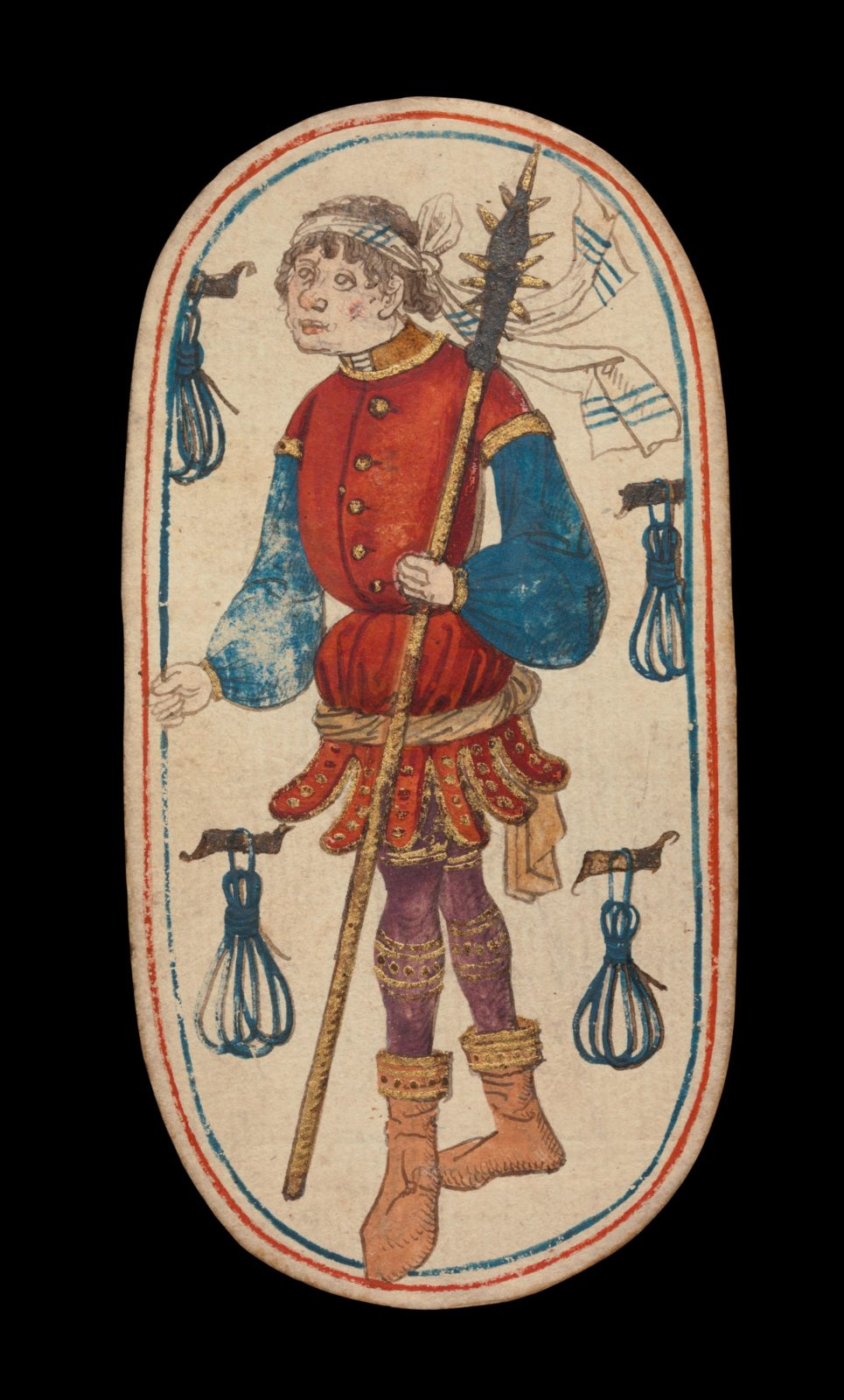 Knave of Tethers, from The Cloisters Playing Cards