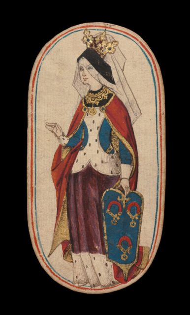 Queen of Collars, from The Cloisters Playing Cards