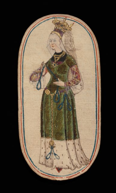 Queen of Nooses, from The Cloisters Playing Cards