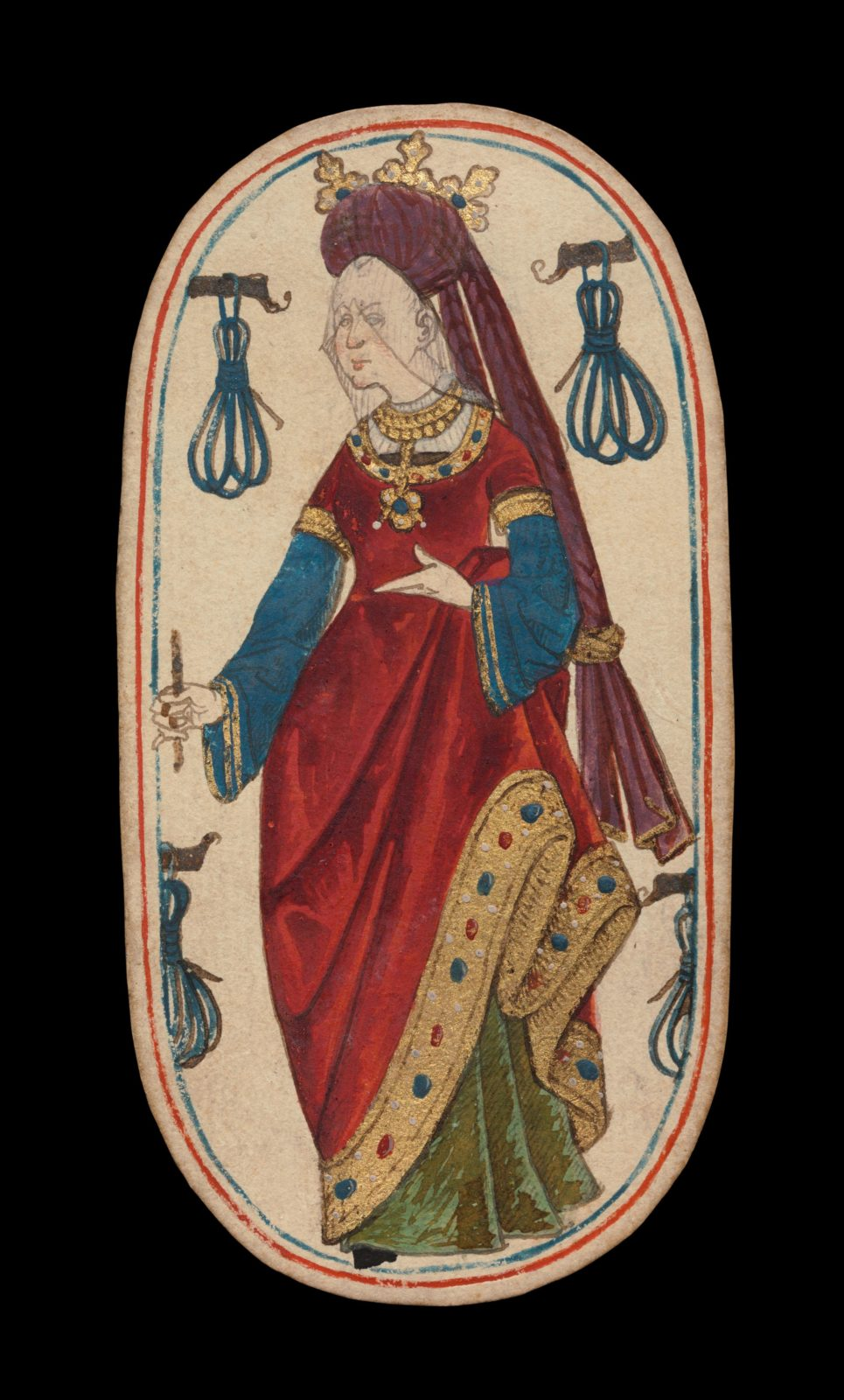 Queen of Tethers, from The Cloisters Playing Cards