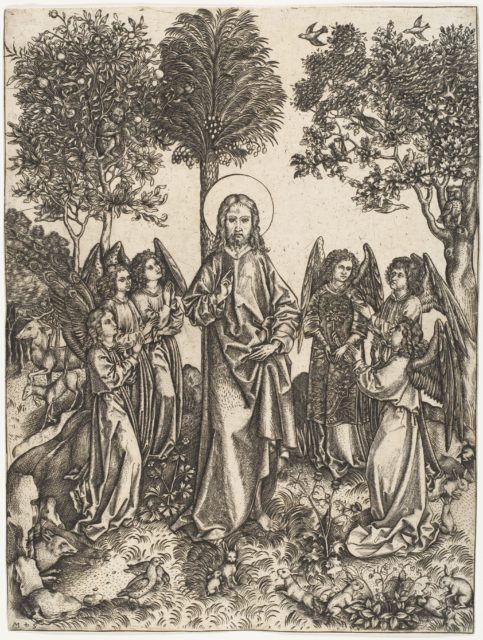 Christ in the Wilderness Served by Angels