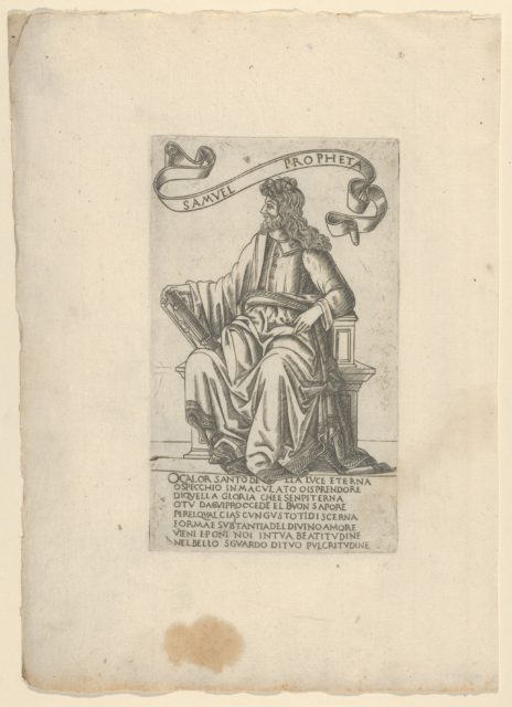 The Prophet Samuel, from Prophets and Sibyls