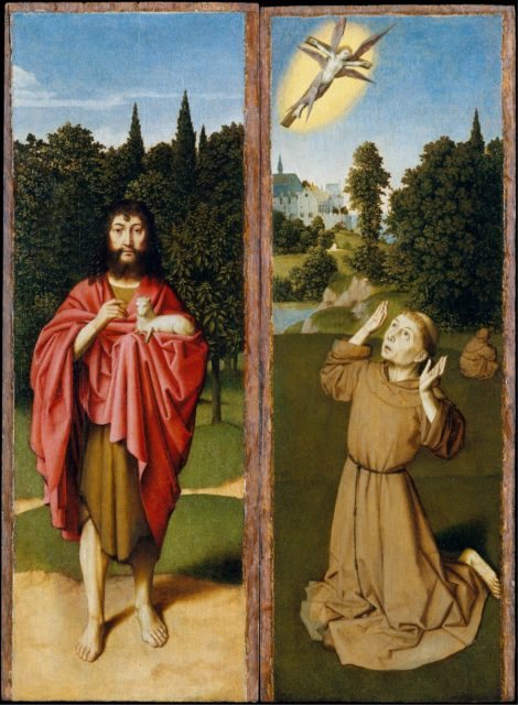 Saint John the Baptist; Saint Francis Receiving the Stigmata