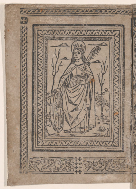 Saint Catherine of Alexandria, from the 'Legenda di Sancta Caterina' (Modena, Richizola, 1490)