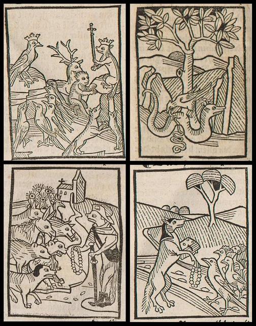 Das Buch der Natürlichen Weisheit (1490) (four details)