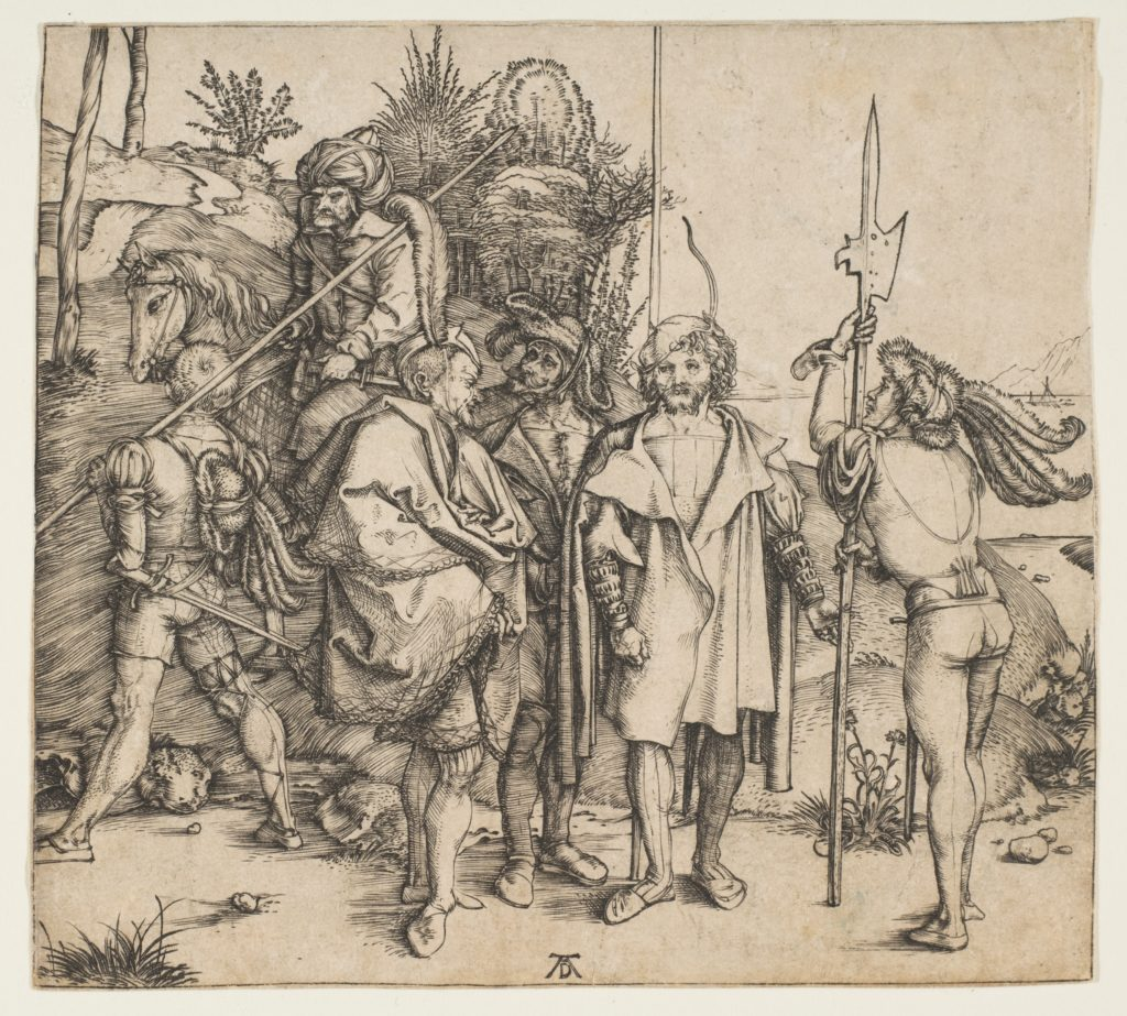 Five Foot Soldiers and a Mounted Turk