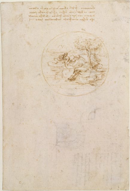 Allegory on the Fidelity of the Lizard (recto); Design for a Stage Setting (verso)