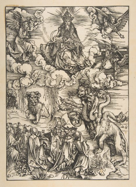 The Beast with Two Horns Like a Lamb, from The Apocalypse, Latin Edition 1511