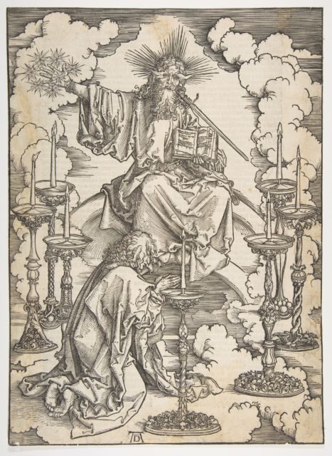 The Vision of the Seven Candlesticks, from The Apocalypse, German Edition 1498