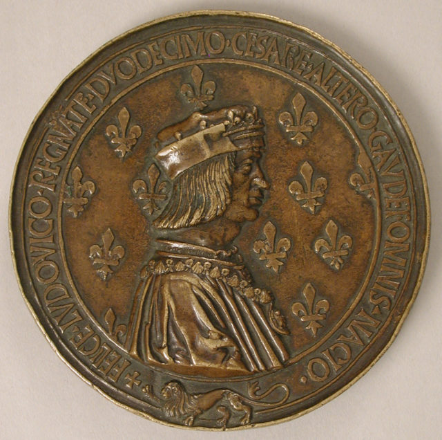 Medal Louis XII, King of France (r. 1498–15155), and Anne of Brittany (1476–1514)