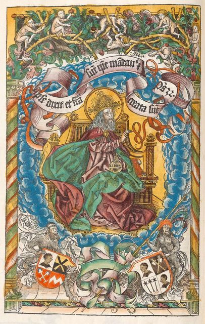 Liber Chronicarum - God seated in heaven (p. 73)