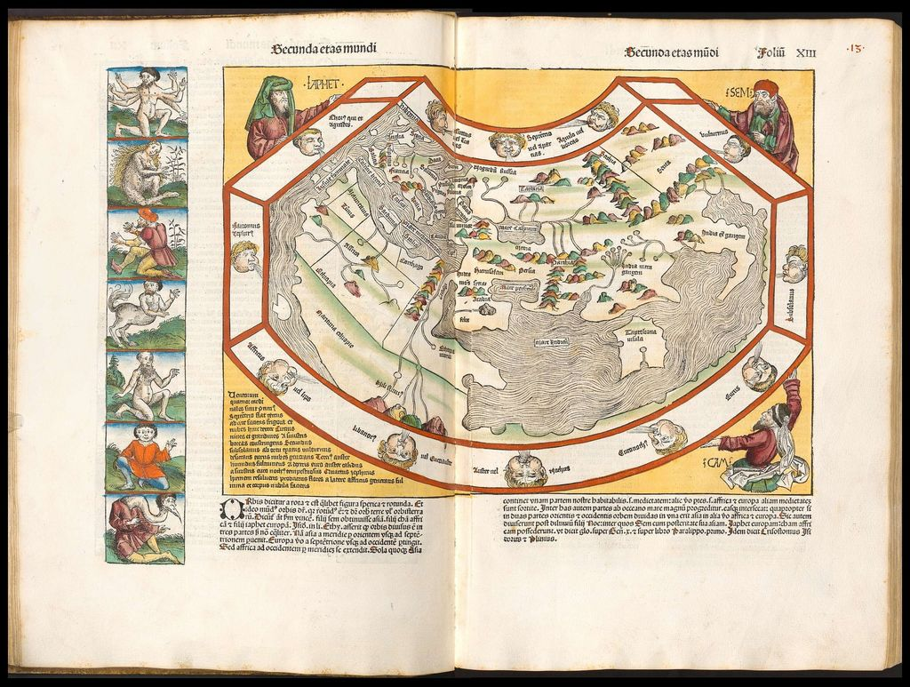 Nuremberg Chronicle world map
