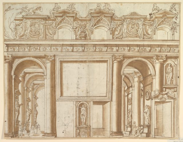 Architectural Design or Stage Set for the Colonna Family