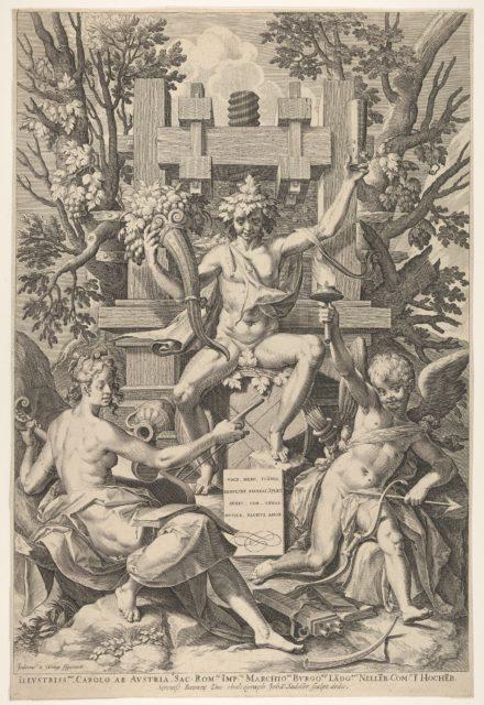 Bacchus, Music, Amor