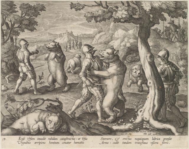 Bear Hunt, from the series Venationes Ferarum, Avium, Piscium...