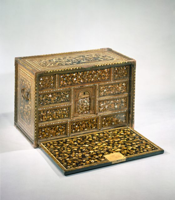 Cabinet of Drawers with Birds and Flowers