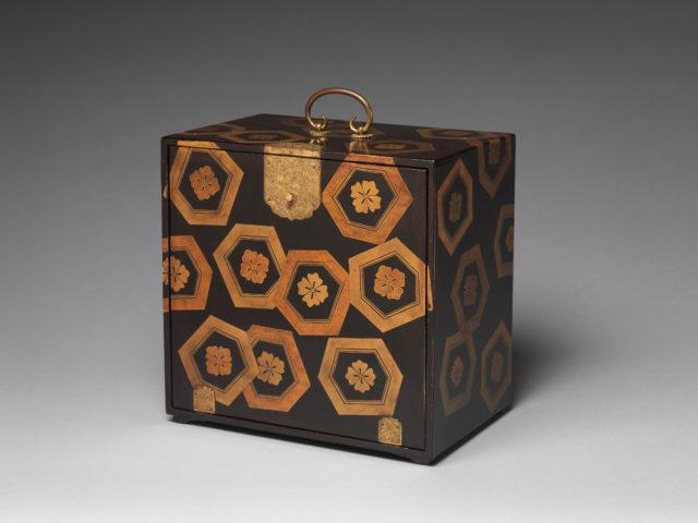 Cabinet with Design of Stylized Tortoiseshell Patterns
